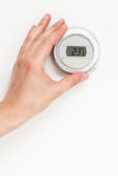 Digital climate thermostat Royalty Free Stock Image