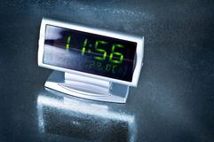Digital Clock. On silver background Stock Image
