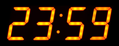 Digital clock Stock Photos