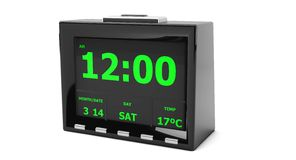 Digital Clock in 3d Stock Photography