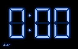 Digital Clock. Displaying the theme of time is up or out of time Stock Photo