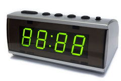 Digital clock. Isolated on a white background. Just fill up unnecessary leds to get right digits Royalty Free Stock Image