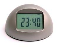 Digital clock stock photo