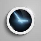 Digital clock with blue arrows Royalty Free Stock Image
