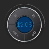 Digital clock with blue lcd Royalty Free Stock Image