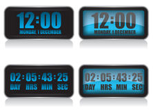 Digital clock and countdown illustration Stock Image