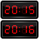 Digital Clock . Digital Uhr Nummer Royalty Free Stock Images