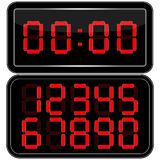 Digital Clock . Digital Uhr Nummer Stock Image