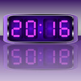 Digital Clock . Digital Uhr Nummer Stock Images