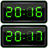 Digital Clock . Digital Uhr Nummer. Vektor illustration royalty free illustration