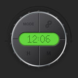 Digital clock with green lcd Stock Photography