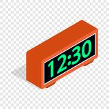 Digital Clock Isometric Icon Royalty Free Stock Image