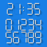 Digital Clock Numbers Royalty Free Stock Photo