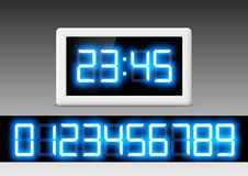 Digital clock with a set of numbers Stock Photo