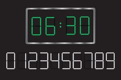 Digital clock. Set your time. Stock Photography