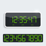 Digital clock with shiny plastic panel. additional Stock Images