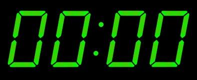 Digital clock show midnight Royalty Free Stock Photos