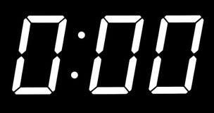 Digital clock show midnight Royalty Free Stock Photography