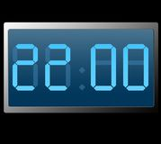 Digital Clock Showing Twenty Two Hundred Hours.  royalty free illustration