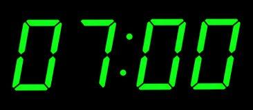 Digital Clock Stock Image