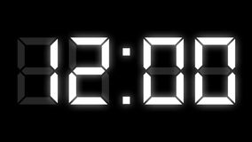 Digital clock timer full 24h time-lapse. Motion graphics royalty free illustration