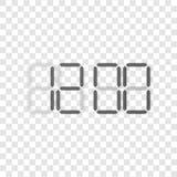 Digital Clock vector Display Concept Royalty Free Stock Photography