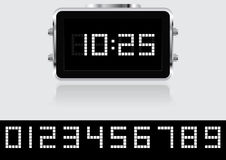 Digital clock vector object. Rgb mode vector illustration