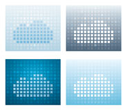 Digital cloud backgrounds Stock Photos