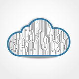 Digital cloud circuit board Stock Image