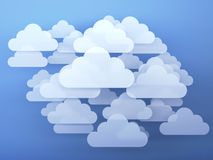 Digital clouds Stock Images