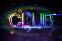 Digital club text Stock Photo