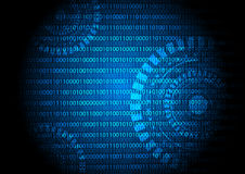 Digital code and abstract circle technology background Stock Photo
