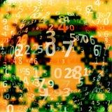 Digital code background Stock Images