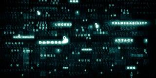 Digital code electronic high tech background. Digital code and key words background stock photo