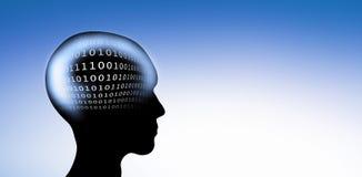 Digital-Code im Kopf stock abbildung