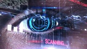 Digital-Code mit Augenöffnung stock video