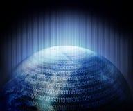 Digital-Code und Erde Lizenzfreie Stockfotos