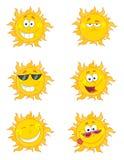 Digital-Collage der glücklichen Sonnegesichter Lizenzfreie Stockfotos