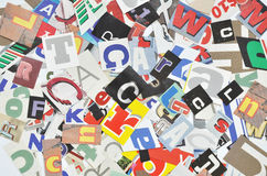 Digital collage made of newspaper clippings Royalty Free Stock Photo