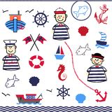 Digital Collage of Nautical Stock Photo