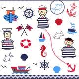 Digital Collage of Nautical Stock Photo