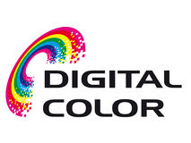 Digital Color. A logo that can be used for company branding Stock Image