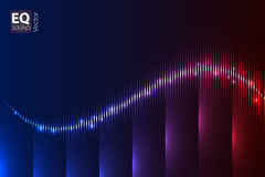Digital color music Equalizer. Vector illustration. Royalty Free Stock Photos