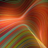 Digital colored lines abstract background. 3d rendering Stock Image