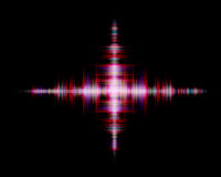Digital colorful plus sound wave on black background Royalty Free Stock Photo