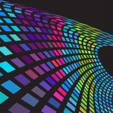 Digital colorful wave vector illustration