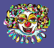 Digital coloring drawing of abstract clown Stock Photography