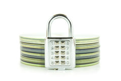 Digital combination lock and compact disk Stock Images