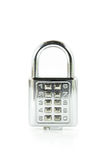 Digital combination lock front view on  Royalty Free Stock Photos