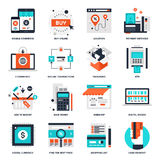 Digital Commerce Icons Stock Photos